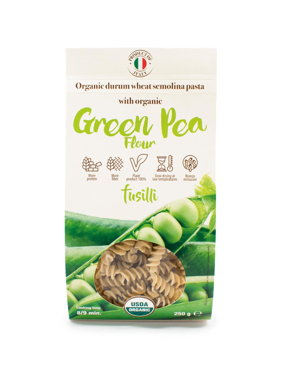 Fusilli with Organic Green Pea Flour - Pastas, Rice, and Grains - Buon'Italia