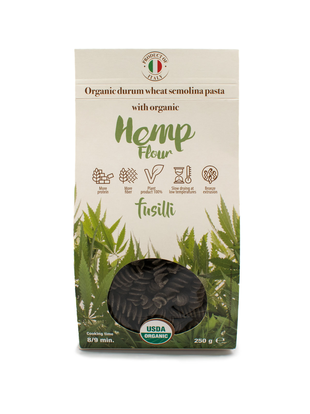 Fusilli with Organic Hemp Flour - Pastas, Rice, and Grains - Buon'Italia
