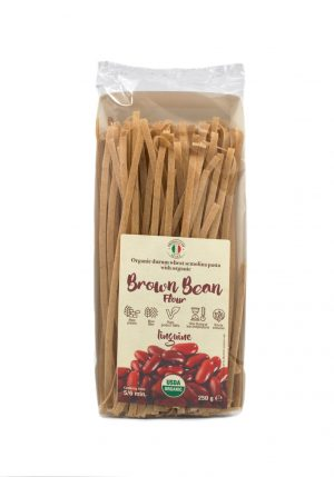 Linguine with Organic Brown Bean Flour - Pastas, Rice, and Grains - Buon'Italia