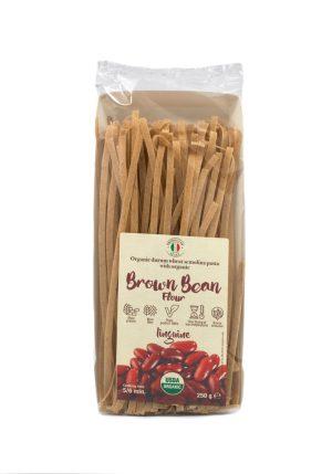 Linguine with Organic Brown Bean Flour - Pastas, Rice, and Grains - Buon'Italia