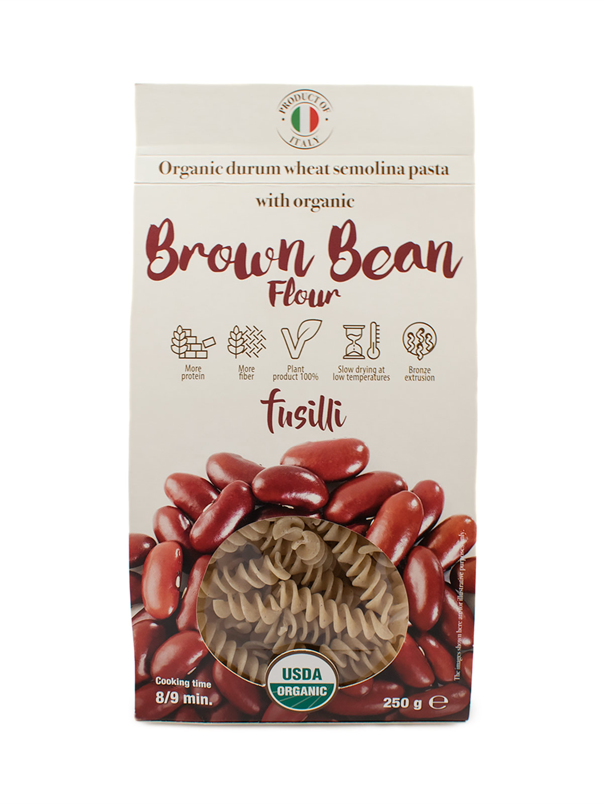 Fusilli with Organic Brown Bean Flour - Pastas, Rice, and Grains - Buon'Italia