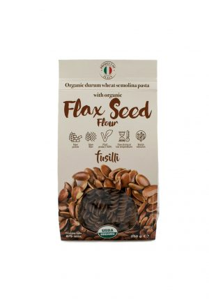 Fusilli with Organic Flax Seed Powder - Pastas, Rice, and Grains - Buon'Italia