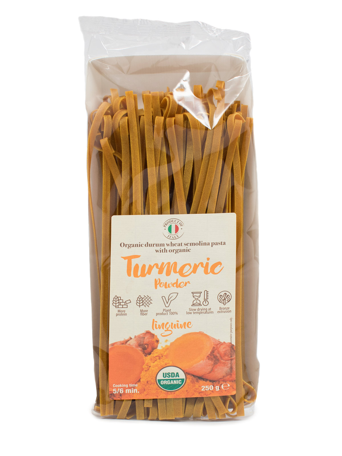 Linguine with Organic Turmeric Flour - Pastas, Rice, and Grains - Buon'Italia
