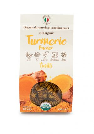 Fusilli with Organic Turmeric Powder - Pastas, Rice, and Grains - Buon'Italia