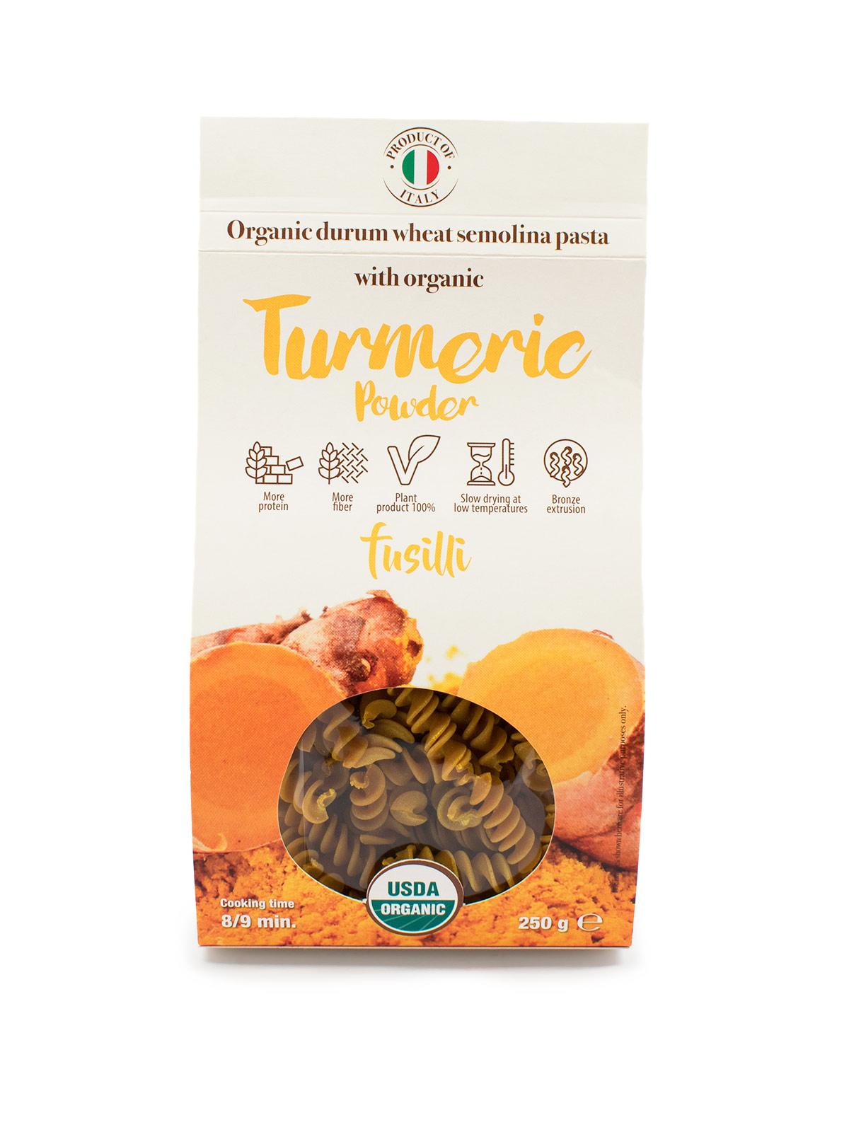 Fusilli with Organic Turmeric Powder - Pastas, Rice, and Grains - Buon'Italia
