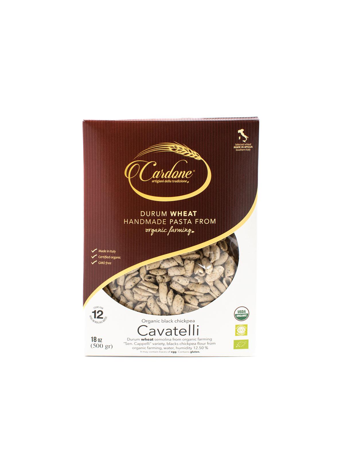 Organic Black Chickpea Cavatelli - Pastas, Rice, and Grains - Buon'Italia