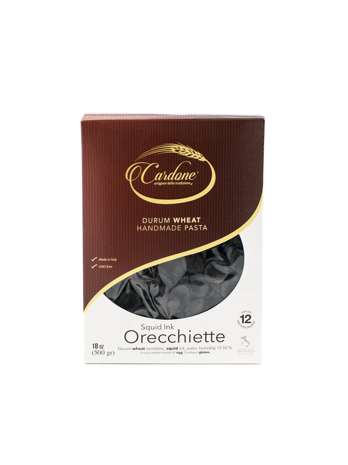 Squid Ink Orecchiette - Pastas, Rice, and Grains - Buon'Italia
