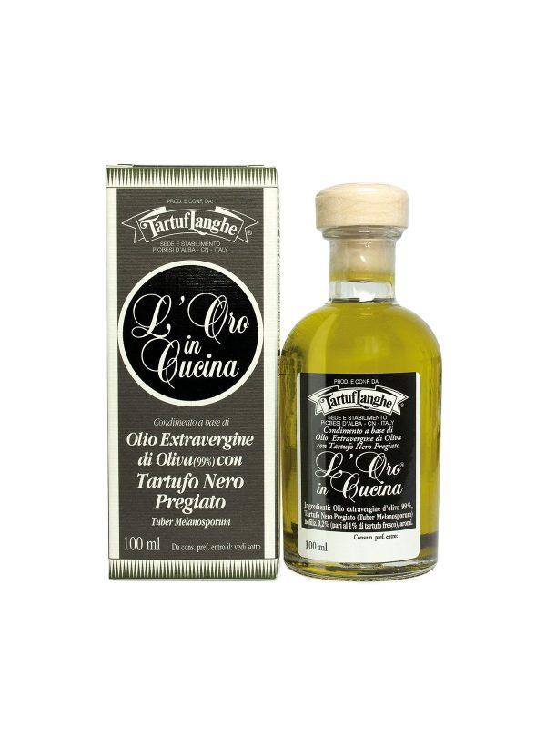Extra Virgin Olive Oil with Black Winter Truffles- Oils & Vinegars - Buon'Italia