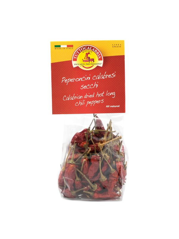 Calabrian Dried Hot Long Chili Peppers - Pantry - Buon'Italia