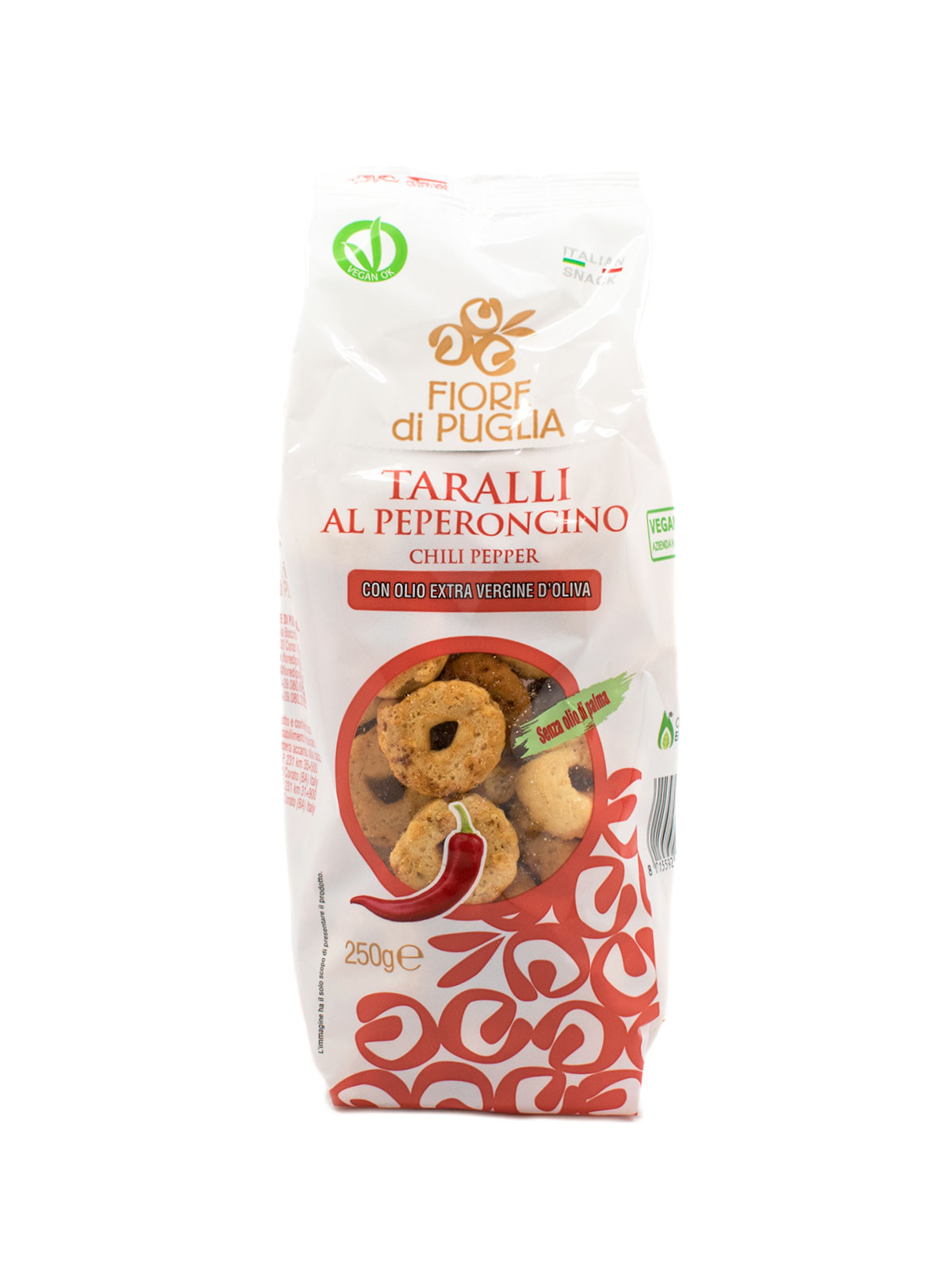 Taralli Chili Pepper Flavor - Sweets, Treats & Snacks - Buon'Italia