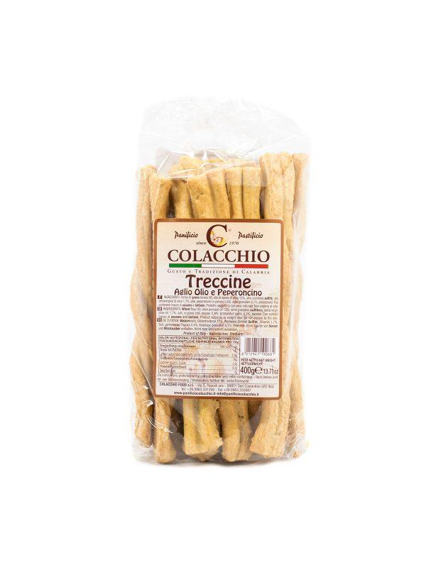 Treccine Aglio Olio e Peperoncino - Sweets, Treats & Snacks - Buon'Italia